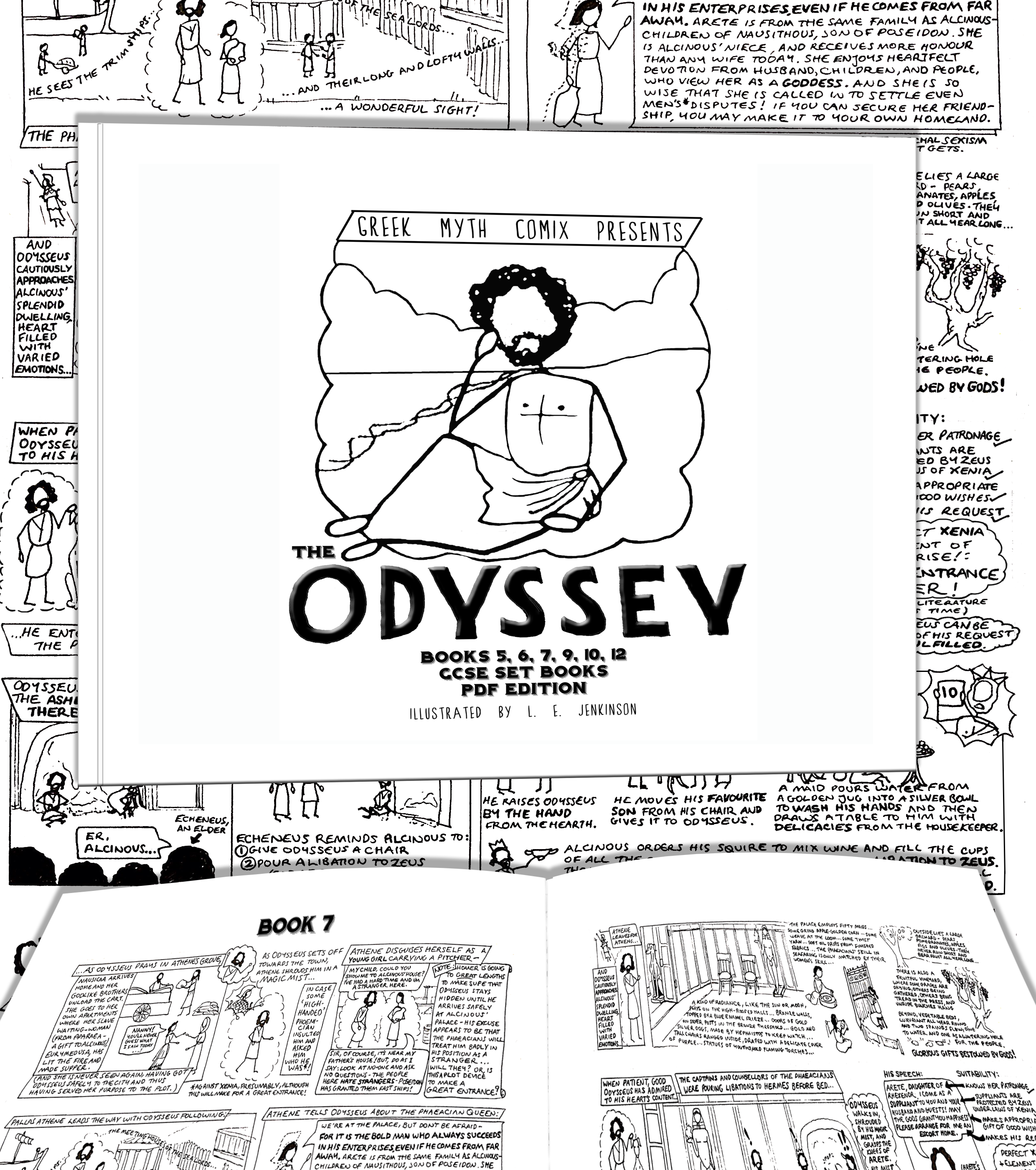 Greek Myth Comix Presents The Odyssey set books for GCSE as a PDF download or class text!